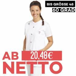 Damen -  Kasack ohne Arm 477 von LEIBER / Farbe: weiß / 65 % Polyester 35 % Baumwolle - | MEIN-KASACK.de | kasack | kasa