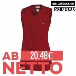 Damen -  Kasack ohne Arm 477 von LEIBER / Farbe: rot / 65 % Polyester 35 % Baumwolle - | MEIN-KASACK.de | kasack | kasac