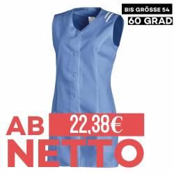 Damen -  Kasack ohne Arm 1246 von LEIBER / Farbe: blau / 65 % Polyester 35 % Baumwolle - | MEIN-KASACK.de | kasack | kas