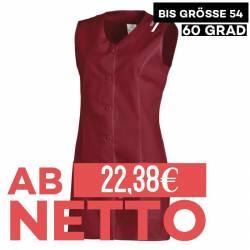 Damen -  Kasack ohne Arm 1246 von LEIBER / Farbe: bordeaux / 65 % Polyester 35 % Baumwolle - | MEIN-KASACK.de | kasack |