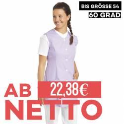 Damen -  Kasack ohne Arm 1246 von LEIBER / Farbe: flieder / 65 % Polyester 35 % Baumwolle - | MEIN-KASACK.de | kasack |