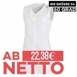 Damen -  Kasack ohne Arm 1246 von LEIBER / Farbe: weiß / 65 % Polyester 35 % Baumwolle - | MEIN-KASACK.de | kasack | kas