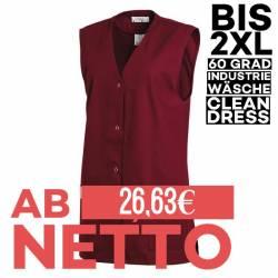 Damen -  Kasack ohne Arm 515 von LEIBER / Farbe: bordeaux / 65 % Polyester 35 % Baumwolle - | MEIN-KASACK.de | kasack |
