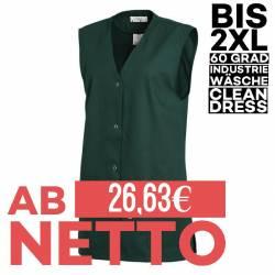 Damen -  Kasack ohne Arm 515 von LEIBER / Farbe: bottle green / 65 % Polyester 35 % Baumwolle - | MEIN-KASACK.de | kasac