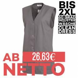 Damen -  Kasack ohne Arm 515 von LEIBER / Farbe: grau / 65 % Polyester 35 % Baumwolle - | MEIN-KASACK.de | kasack | kasa