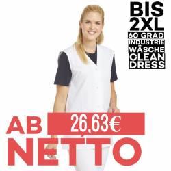Damen -  Kasack ohne Arm 515 von LEIBER / Farbe: weiß / 65 % Polyester 35 % Baumwolle - | MEIN-KASACK.de | kasack | kasa