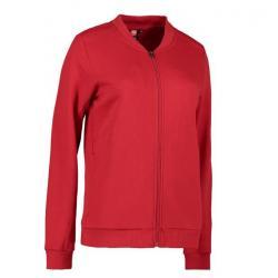 PRO Wear Cardigan Damen 367 von ID / Farbe: rot / 60% BAUMWOLLE 40% POLYESTER - | Wenn Kasack - Dann MEIN-KASACK.de | Ka
