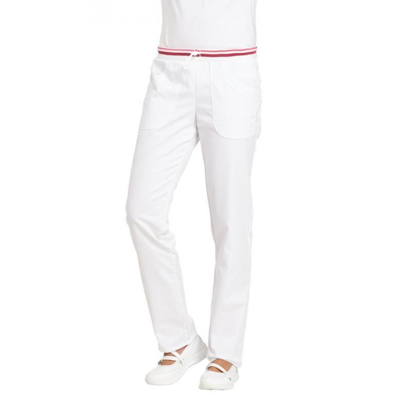 Damenhose 6750 von LEIBER / Farbe: weiß-beere / 65 % Polyester 35 % Baumwolle - | MEIN-KASACK.de
