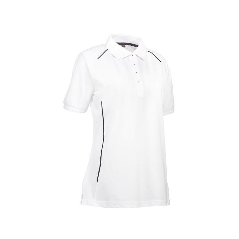 PRO Wear Damen Poloshirt | Paspel 329 von ID / Farbe: weiß / 50% BAUMWOLLE 50% POLYESTER - | Wenn Kasack - Dann MEIN-KAS