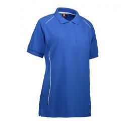 PRO Wear Damen Poloshirt | Paspel 329 von ID / Farbe: azur / 50% BAUMWOLLE 50% POLYESTER - | Wenn Kasack - Dann MEIN-KAS