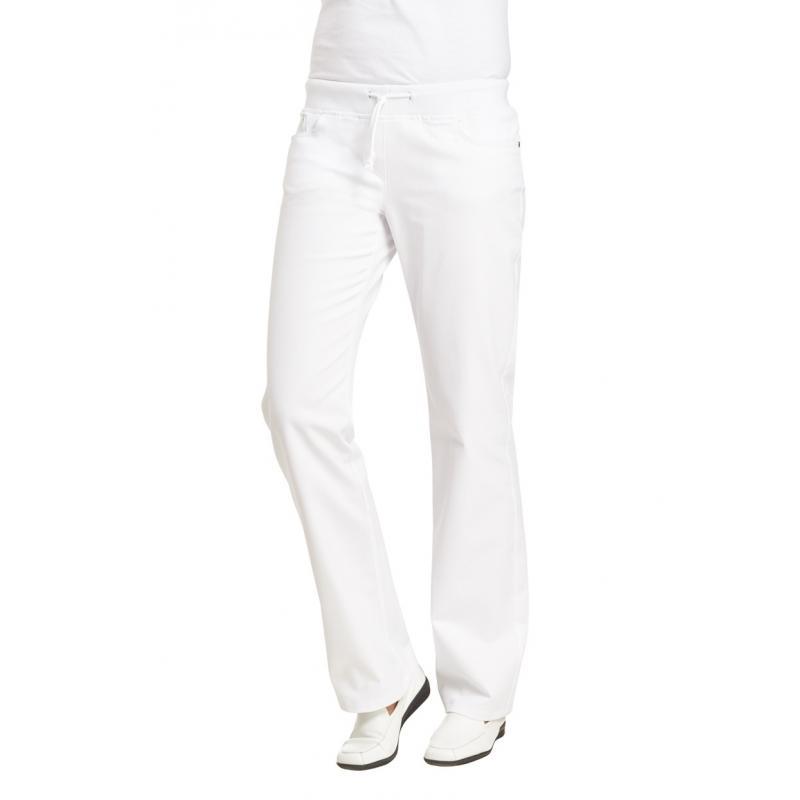Damenhose 6830 von LEIBER / Farbe: weiß / 97 % Baumwolle 3 % Elastolefin - | Wenn Kasack - Dann MEIN-KASACK.de | Kasacks