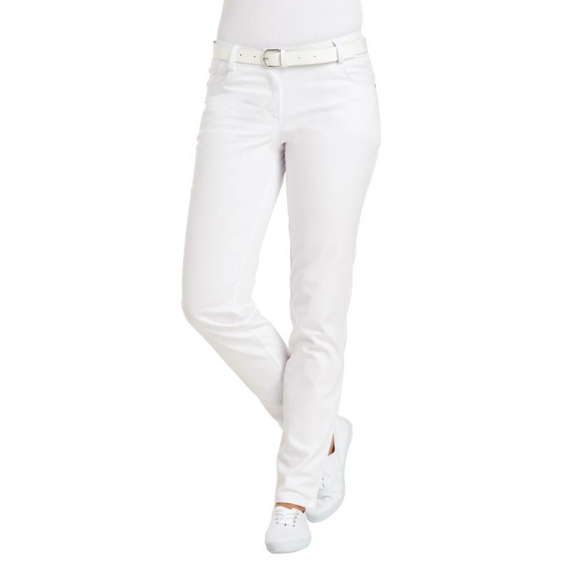 Damenhose 6700 von LEIBER / Farbe: weiß / 97 % Baumwolle 3 % Elastolefin - | Wenn Kasack - Dann MEIN-KASACK.de | Kasacks