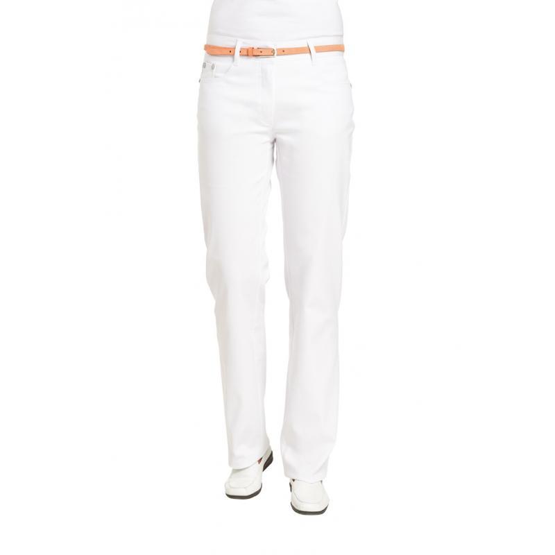 Damenhose 1190 von LEIBER / Farbe: weiß / 97 % Baumwolle 3 % Elastolefin - | Wenn Kasack - Dann MEIN-KASACK.de | Kasacks