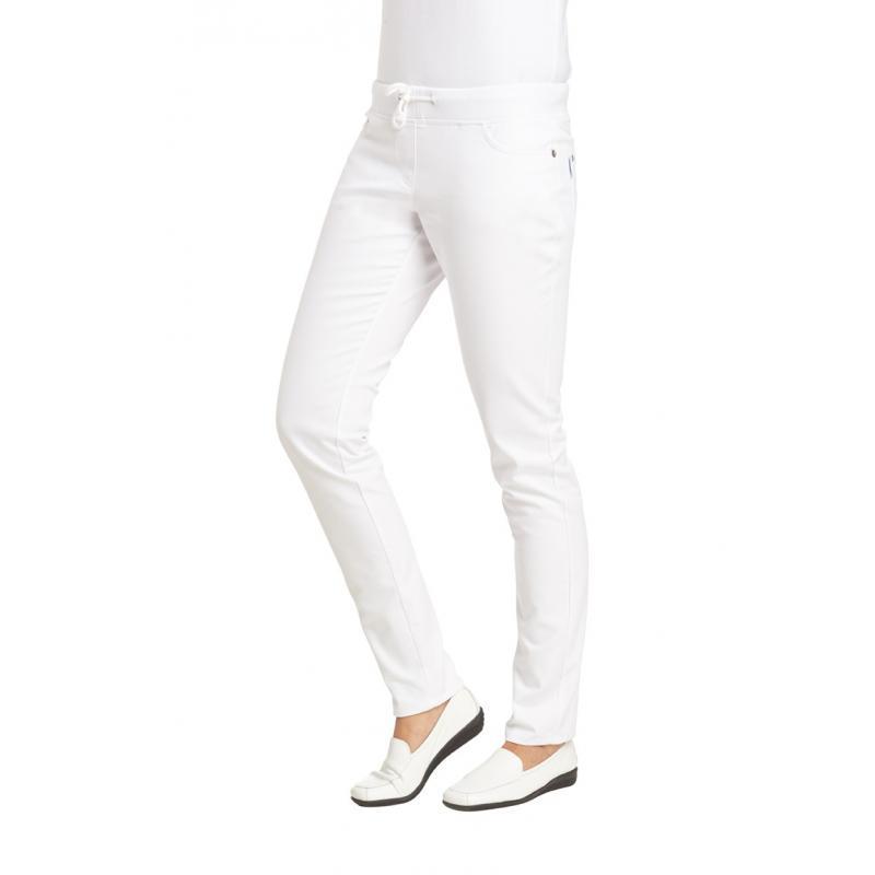 Damenhose 1060 von LEIBER / Farbe: weiß / 97 % Baumwolle 3 % Elastolefin - | MEIN-KASACK.de