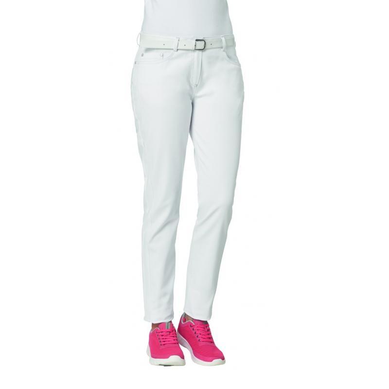 Damenhose 7670 von LEIBER / Farbe: weiß / 97 % Baumwolle 3 % Elastolefin - | Wenn Kasack - Dann MEIN-KASACK.de | Kasacks