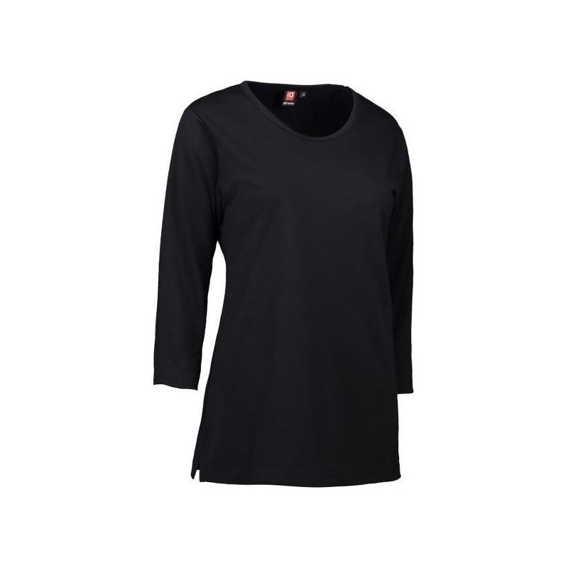 PRO Wear Damen T-Shirt | 3/4-Arm 313 von ID / Farbe: schwarz / 60% BAUMWOLLE 40% POLYESTER - | Wenn Kasack - Dann MEIN-K