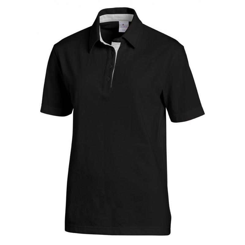 Poloshirt 2637 von LEIBER / Farbe: schwarz-silbergrau / 95 % Baumwolle 5 % Elasthan - | Wenn Kasack - Dann MEIN-KASACK.d