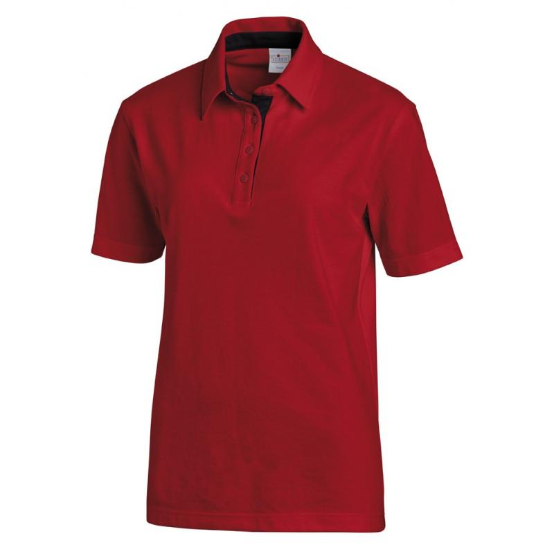 Poloshirt 2637 von LEIBER / Farbe: rot-schwarz / 95 % Baumwolle 5 % Elasthan - | MEIN-KASACK.de