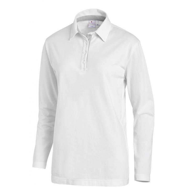 Poloshirt 2638 von LEIBER / Farbe: weiß-silbergrau / 95 % Baumwolle 5 % Elasthan - | Wenn Kasack - Dann MEIN-KASACK.de |