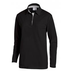 Poloshirt 2638 von LEIBER / Farbe: schwarz-silbergrau / 95 % Baumwolle 5 % Elasthan - | Wenn Kasack - Dann MEIN-KASACK.d