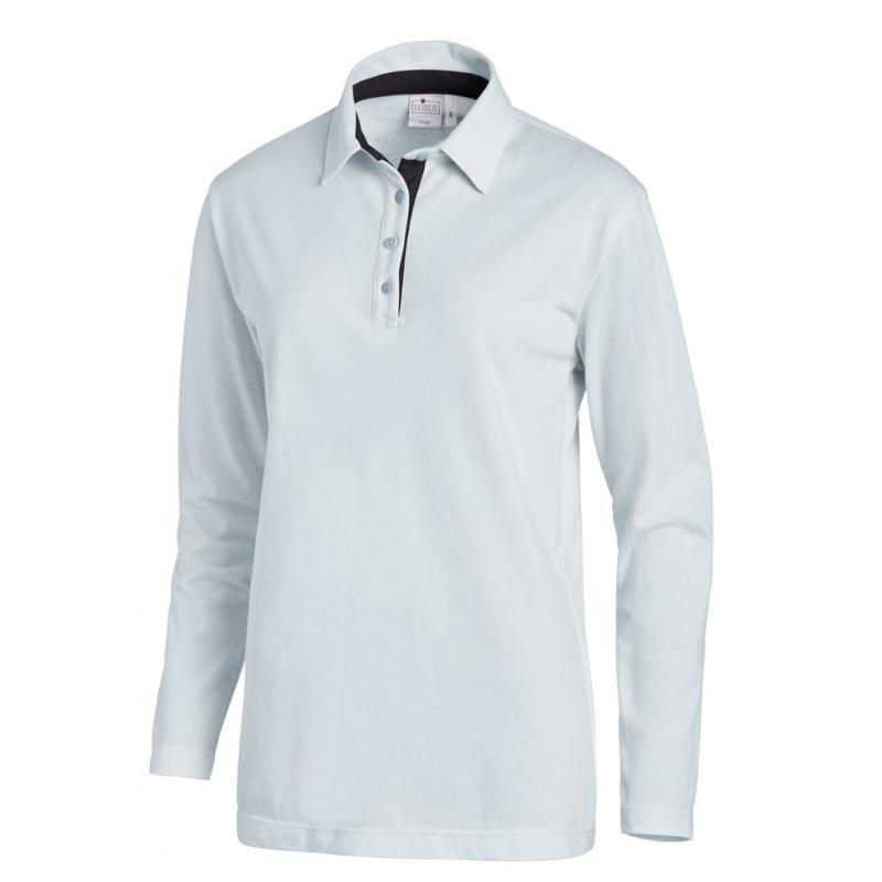 Poloshirt 2638 von LEIBER / Farbe: hellblau-marine / 95 % Baumwolle 5 % Elasthan - | Wenn Kasack - Dann MEIN-KASACK.de |