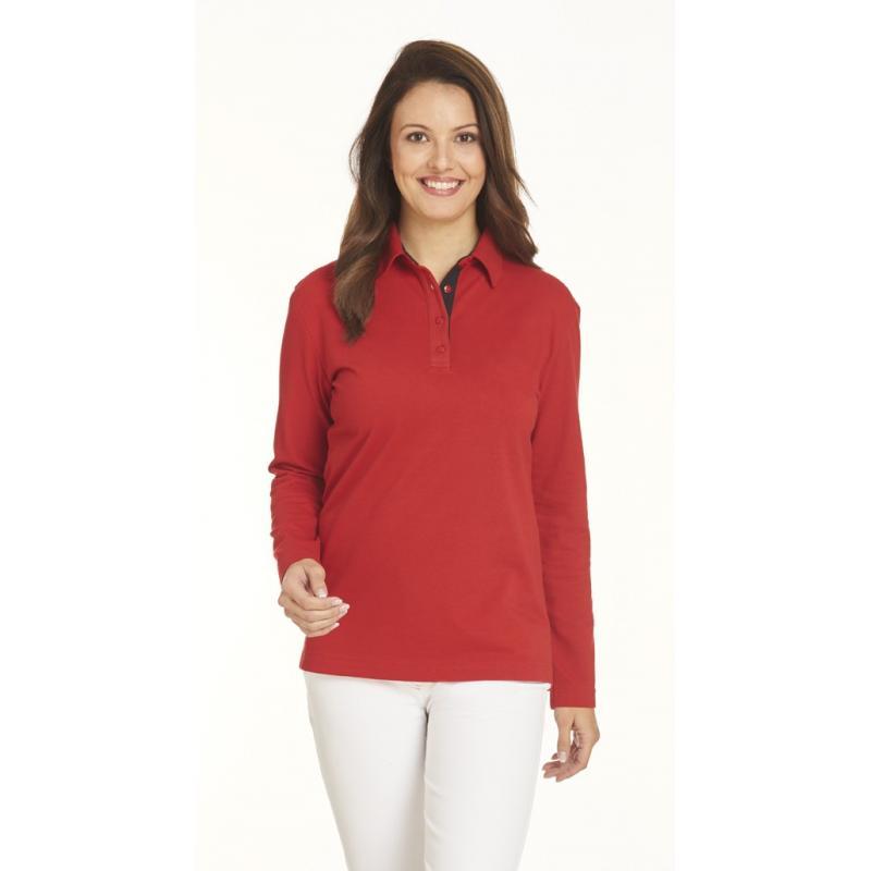 Poloshirt 2638 von LEIBER / Farbe: rot-schwarz / 95 % Baumwolle 5 % Elasthan - | Wenn Kasack - Dann MEIN-KASACK.de | Kas