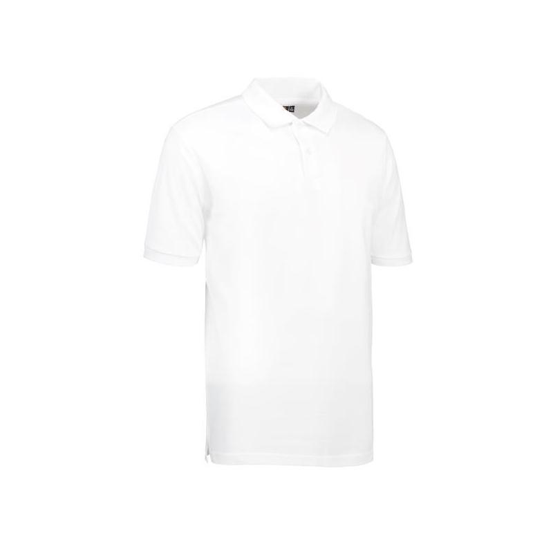YES Herren Poloshirt 2020 von ID / Farbe: weiß / 100% POLYESTER - | Wenn Kasack - Dann MEIN-KASACK.de | Kasacks für die