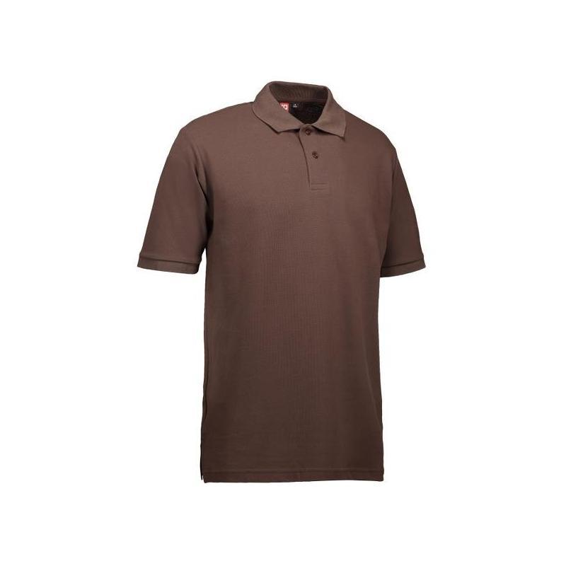 YES Herren Poloshirt 2020 von ID / Farbe: braun / 100% POLYESTER - | Wenn Kasack - Dann MEIN-KASACK.de | Kasacks für die