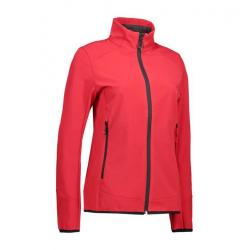 Funktionelle Soft Shell Damenjacke 856 von ID / Farbe: rot / 100% POLYESTER - | MEIN-KASACK.de | kasack | kasacks | kass