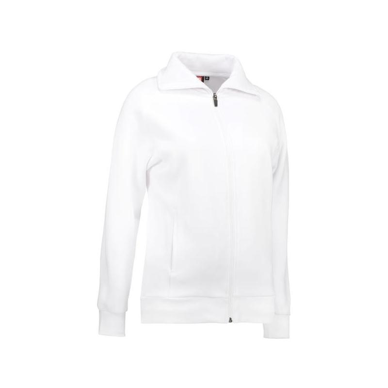 Damen Sweatshirtjacke 624 von ID / Farbe: weiß / 60% BAUMWOLLE 40% POLYESTER -   Wenn Kasack - Dann MEIN-KASACK.de   Kas