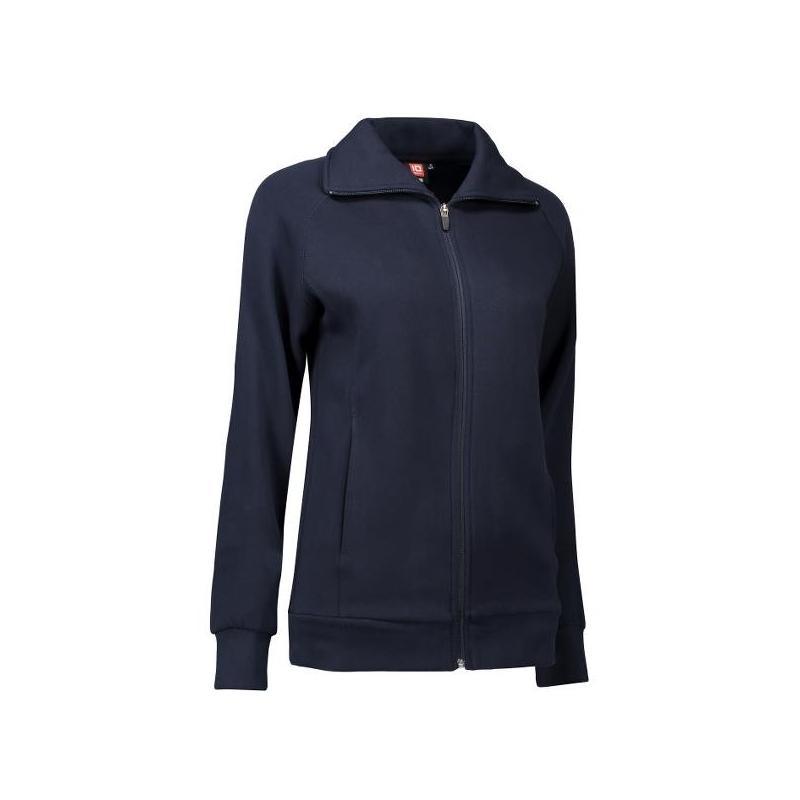 Damen Sweatshirtjacke 624 von ID / Farbe: navy / 60% BAUMWOLLE 40% POLYESTER - | MEIN-KASACK.de | kasack | kasacks | kas