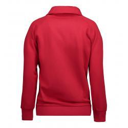 Damen Sweatshirtjacke 624 von ID / Farbe: rot / 60% BAUMWOLLE 40% POLYESTER - | MEIN-KASACK.de
