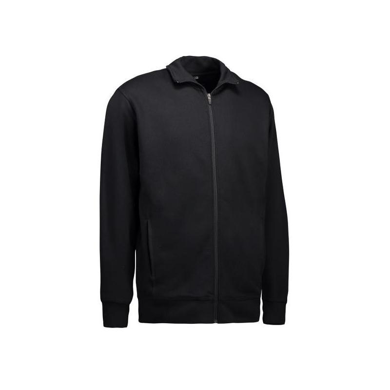 Herren Sweatshirtjacke 622 von ID / Farbe: schwarz / 60% BAUMWOLLE 40% POLYESTER - | Wenn Kasack - Dann MEIN-KASACK.de |