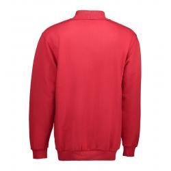 Klassisches Herren Polo-Sweatshirt 601 von ID / Farbe: rot / 70% BAUMWOLLE 30% POLYESTER - | MEIN-KASACK.de | kasack | k