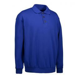 Klassisches Herren Polo-Sweatshirt 601 von ID / Farbe: königsblau / 70% BAUMWOLLE 30% POLYESTER - | MEIN-KASACK.de | kas