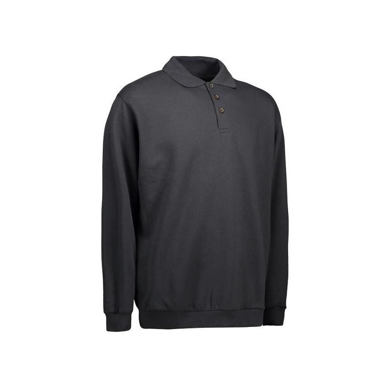 Klassisches Herren Polo-Sweatshirt 601 von ID / Farbe: koks / 70% BAUMWOLLE 30% POLYESTER -   Wenn Kasack - Dann MEIN-KA