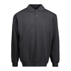 Klassisches Herren Polo-Sweatshirt 601 von ID / Farbe: koks / 70% BAUMWOLLE 30% POLYESTER - | MEIN-KASACK.de | kasack |