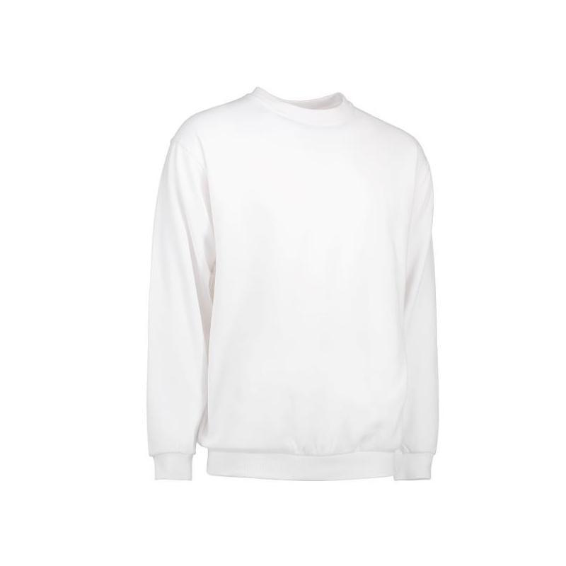 Klassisches Herren Sweatshirt 600 von ID / Farbe: weiß / 70% BAUMWOLLE 30% POLYESTER - | MEIN-KASACK.de | kasack | kasac
