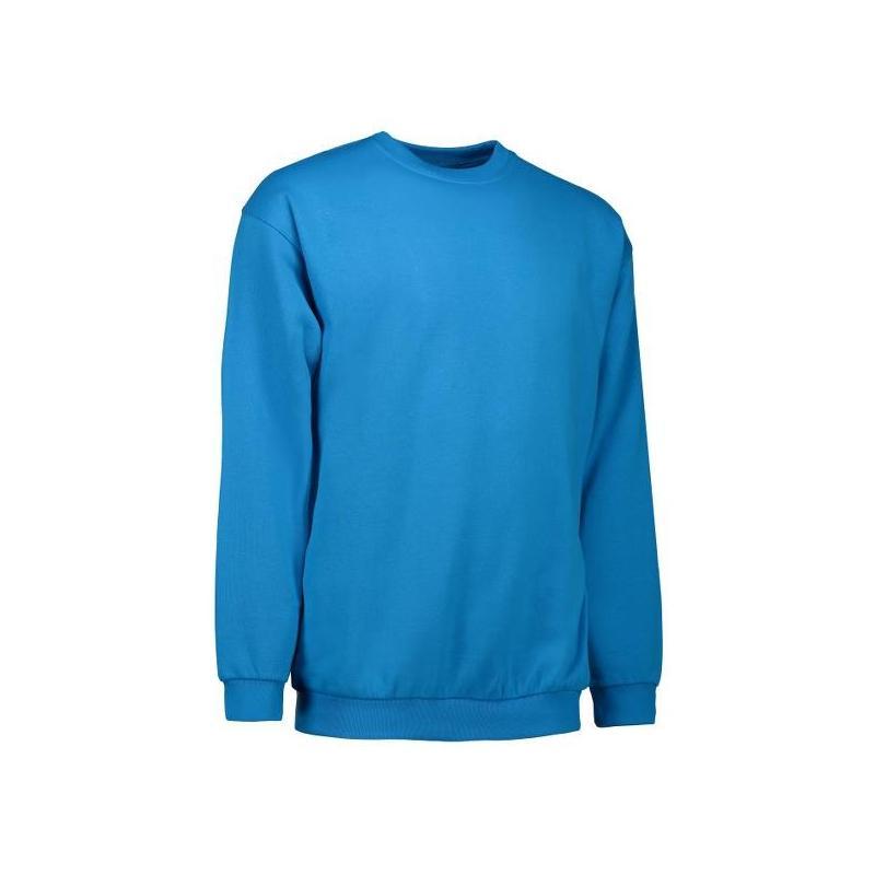 Klassisches Herren Sweatshirt 600 von ID / Farbe: türkis / 70% BAUMWOLLE 30% POLYESTER - | MEIN-KASACK.de | kasack | kas