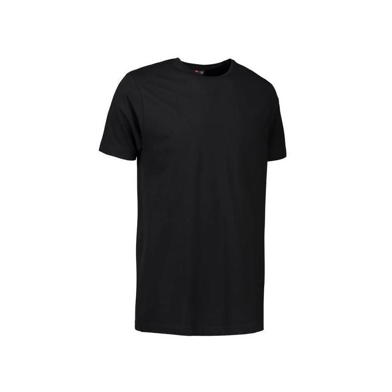 Stretch Herren T-Shirt 594 von ID / Farbe: schwarz / 92% BAUMWOLLE 8% ELASTANE - | Wenn Kasack - Dann MEIN-KASACK.de | K