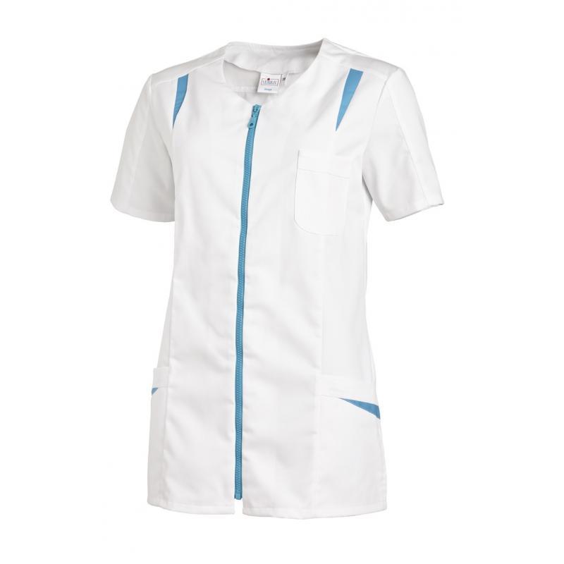 Hosenkasack 2533 von LEIBER / Farbe: weiß-türkis / 65 % Polyester 35 % Baumwolle - | MEIN-KASACK.de