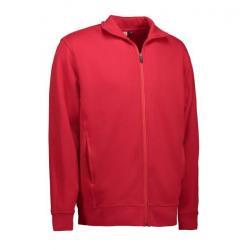 Herren Sweatshirtjacke 622 von ID / Farbe: rot / 60% BAUMWOLLE 40% POLYESTER - | Wenn Kasack - Dann MEIN-KASACK.de | Kas