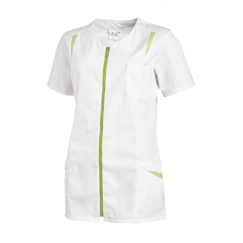 Hosenkasack 2533 von LEIBER / Farbe: weiß-hellgrün / 65 % Polyester 35 % Baumwolle - | Wenn Kasack - Dann MEIN-KASACK.de