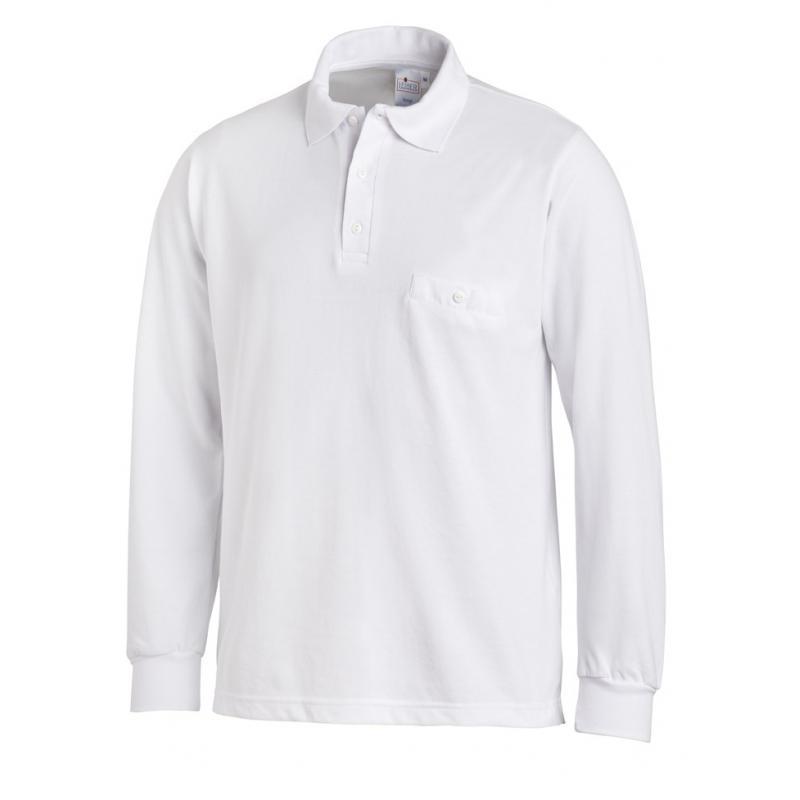 Poloshirt 841 von LEIBER / Farbe: weiß / 50 % Baumwolle 50 % Polyester - | MEIN-KASACK.de | kasack | kasacks | kassak |