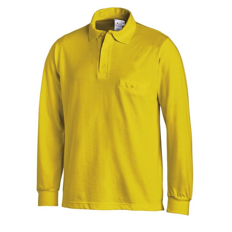 Poloshirt 841 von LEIBER / Farbe: gelb / 50 % Baumwolle 50 % Polyester - | Wenn Kasack - Dann MEIN-KASACK.de | Kasacks f