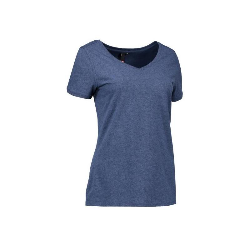 CORE V-Neck Tee Damen T-Shirt 543 von ID / Farbe: blau / 100% BAUMWOLLE - | Wenn Kasack - Dann MEIN-KASACK.de | Kasacks
