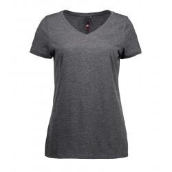 CORE V-Neck Tee Damen T-Shirt 543 von ID / Farbe: koks / 100% BAUMWOLLE - | Wenn Kasack - Dann MEIN-KASACK.de | Kasacks
