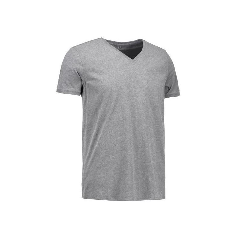 CORE V-Neck Tee Herren T-Shirt 542 von ID / Farbe: grau / 100% BAUMWOLLE - | Wenn Kasack - Dann MEIN-KASACK.de | Kasacks