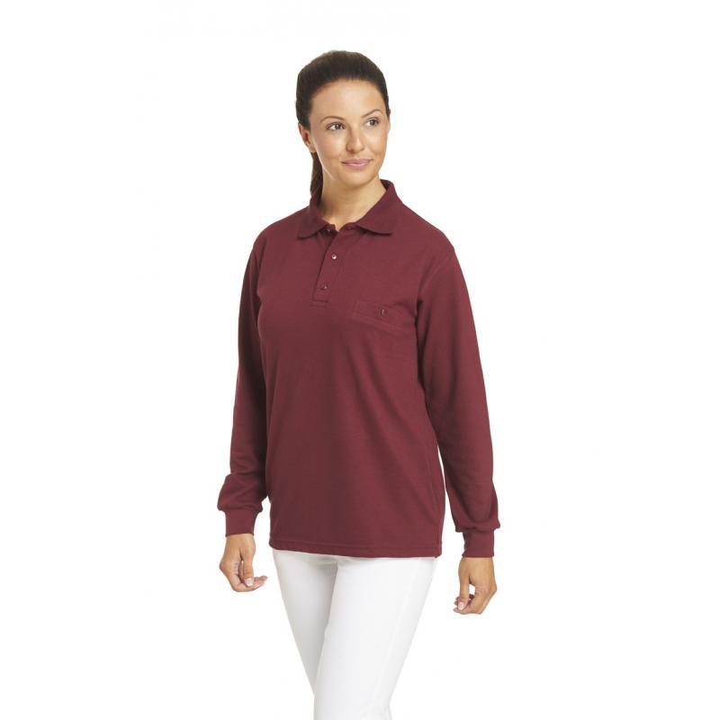 Poloshirt 841 von LEIBER / Farbe: bordeaux / 50 % Baumwolle 50 % Polyester - | Wenn Kasack - Dann MEIN-KASACK.de | Kasac