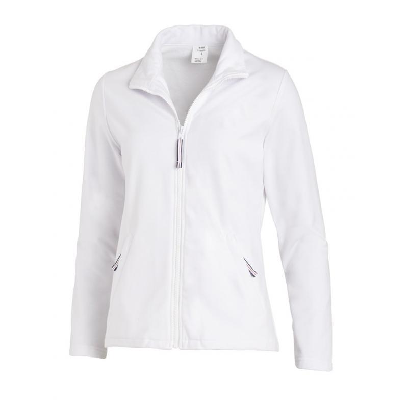 Sweatjacke (Damen) 1059 von LEIBER / Farbe: weiß / 50 % Baumwolle 50 % Polyester - | Wenn Kasack - Dann MEIN-KASACK.de |